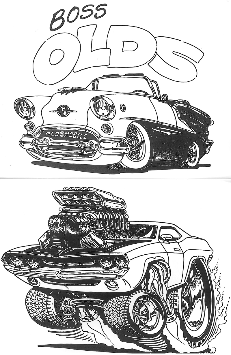 Bill Copeland S Hot Rod Coloring Book Cruzin Magazine
