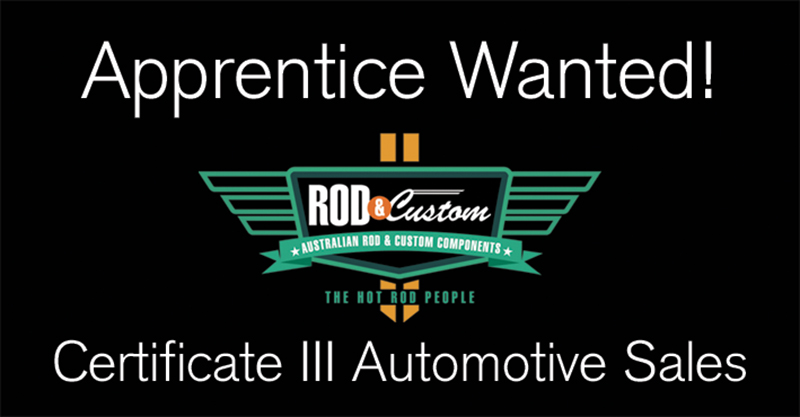 APPRENTICE WANTED